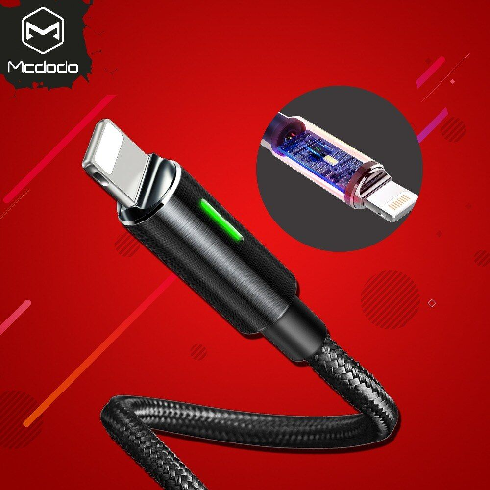 Mcdodo USB Charger Cable for iPhone X 8 7 6 6s Plus 5 5s SE For Lightning Cord Fast Charging Data Cable Auto disconnect power