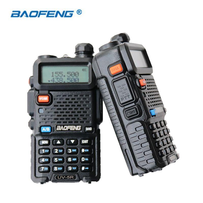 2 PCS Baofeng UV-5R Talkie Walkie Dual Band HAM CB Radio 2 Façon Portable Émetteur-Récepteur VHF UHF UV 5R Radios Communicateur Stéréo
