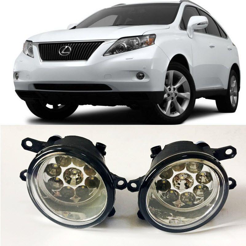 For Lexus RX350 RX270 2010-2015 9-Pieces Leds Fog Lights H11 H8 12V 55W Halogen LED Fog Head Lamp Car-Styling
