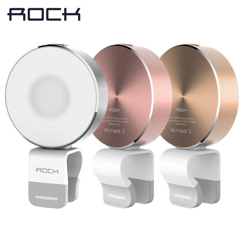 ROCK OMI Téléphone Flash Selfie Lumière, LED lumière-lampe de compensation, métal Alliage caméra lampe de poche