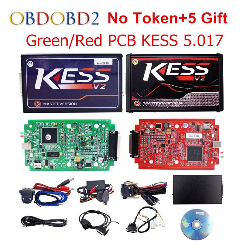 Online Master KESS V5.017 V2.23 Red PCB Manager Tuning Kit KESS 5.017 No Tokens For Car/ Truck/Tractor Free Shipping
