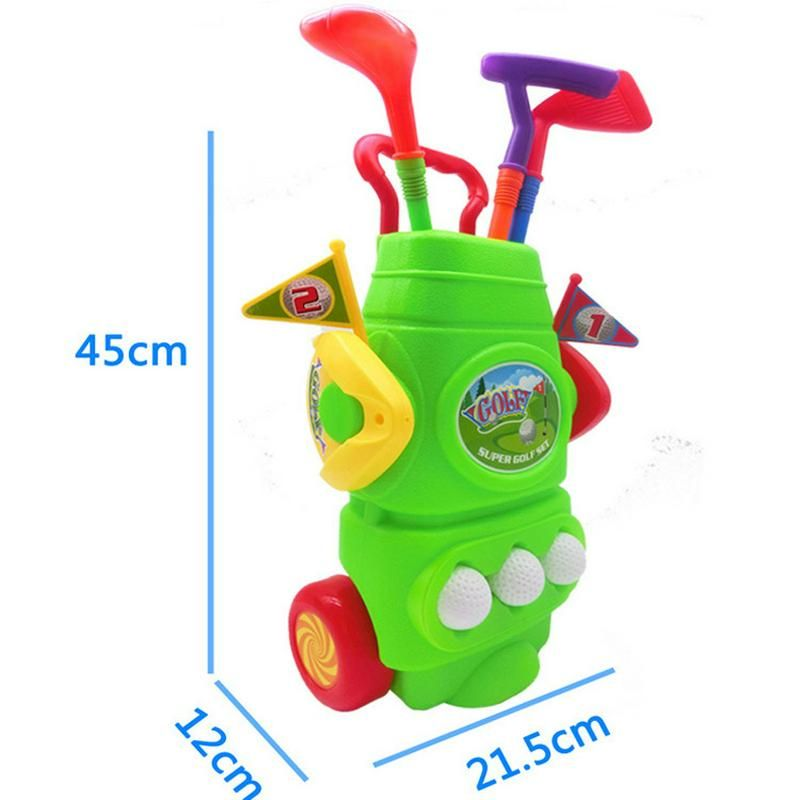 Golf Clubs Golfballs Portable Trolley Kids Toy Mini Golf Set With Box Package Best Birthday Gift Indoor Outdoor Education Games