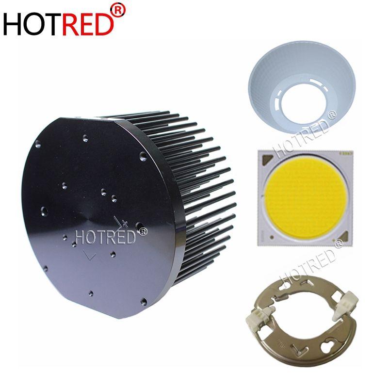 CREE CXB3590 COB LED Wachsen Licht Gesamte Spektrum mit Ideal halter 50-2303CR Kühlkörper Meanwell fahrer 100mm glas objektiv/ reflektor