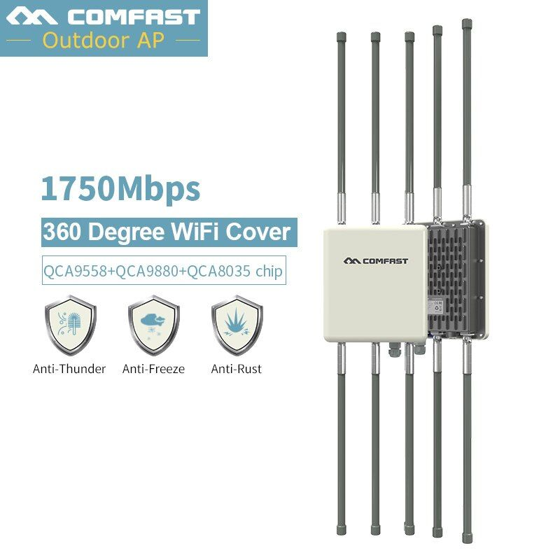 1750 Mbps Dual Band 2,4G & 5,8G Outdoor CPE AP Router WiFi Signal Hotspot Verstärker Repeater Lange Palette wireless PoE Access Point