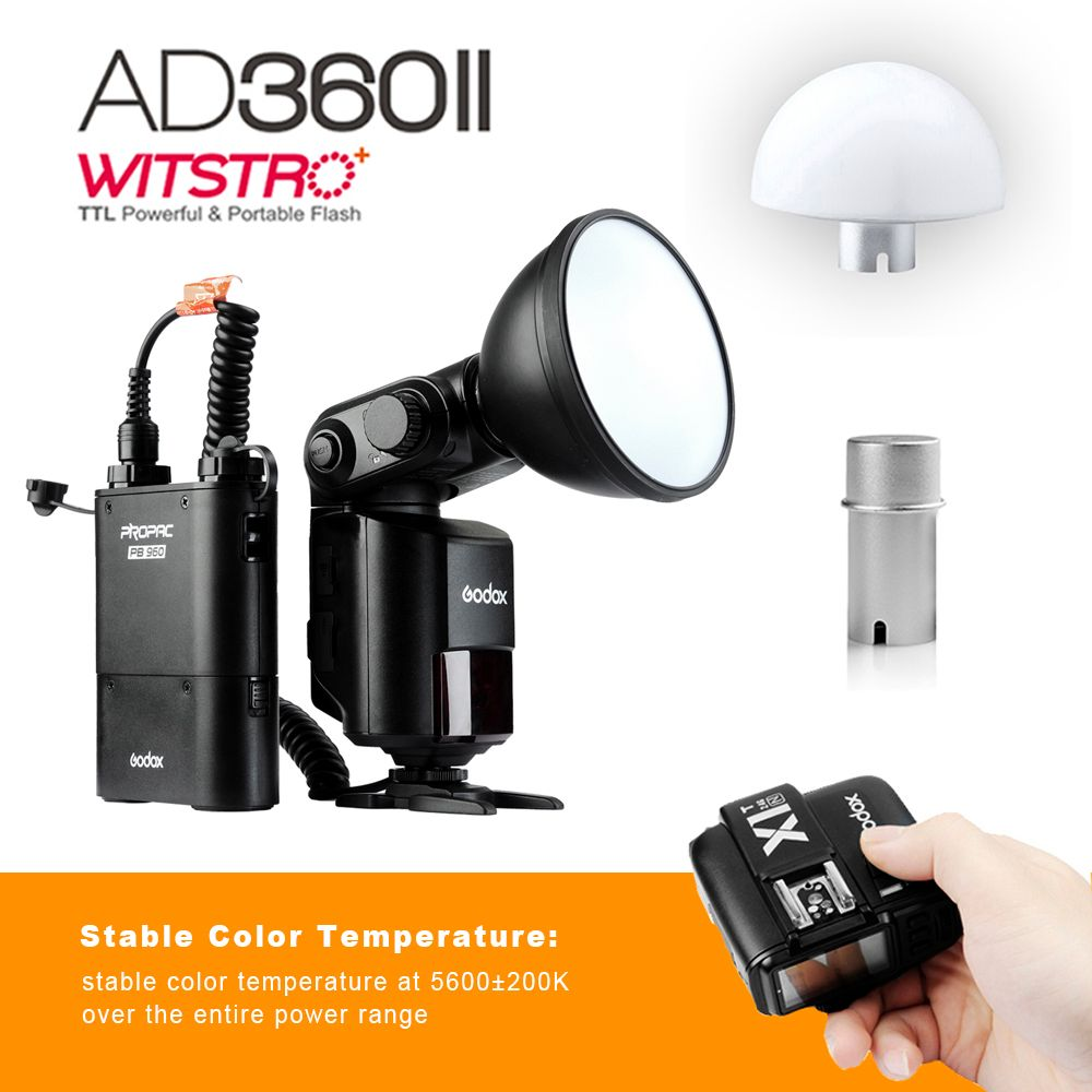 Godox Flash Witstro AD360IIN+PB960 TTL On/Off-Camera Flash Speedlite with X1T Wireless Trigger kit for NIKON Camera