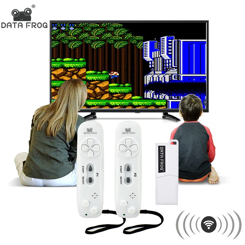 Data Frog Retro Video Game Console Wireless USB Console Support TV Out <font><b>Built</b></font> in 620 Classic Video Games Dual Handheld Gamepads