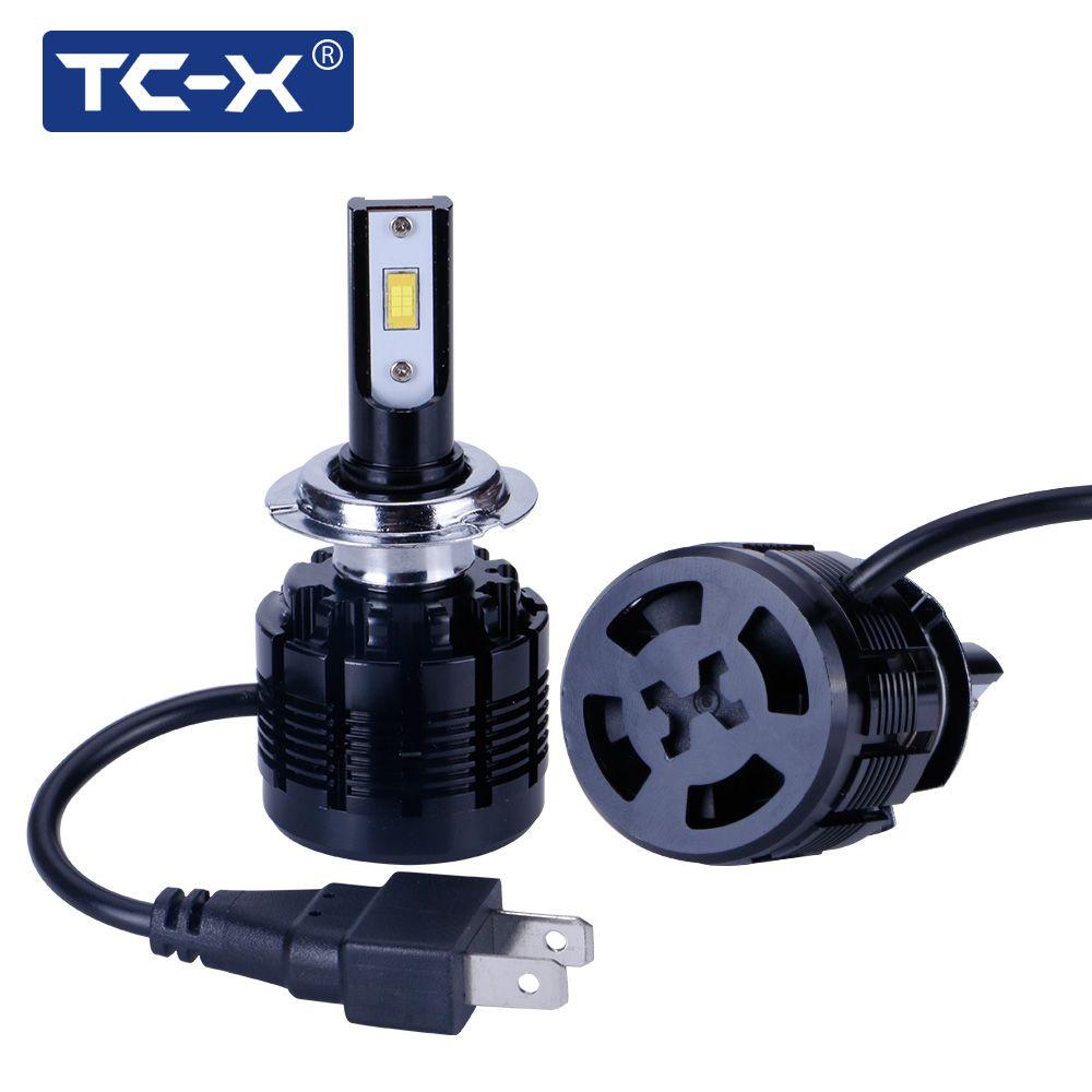 TC-X LED 7200LM Car Headlights H1 H7 LED H11/H8/H9 H4/9003 9005/HB3 9006/HB4 880/H27 6000K Car Headlight Fog Light Replacement
