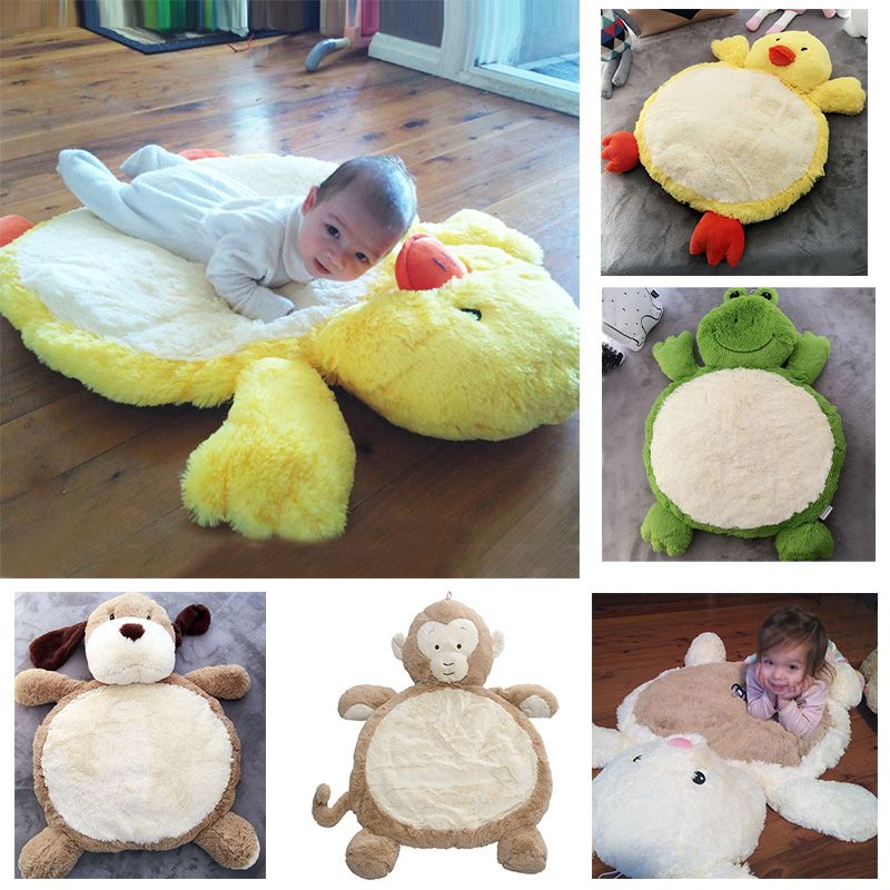 Baby Plush Toys Animals Monkey Baby Play Mat Super Soft Crawling Floor Mat Newborn Carpet Rug for Children Game Blanket 80*60cm