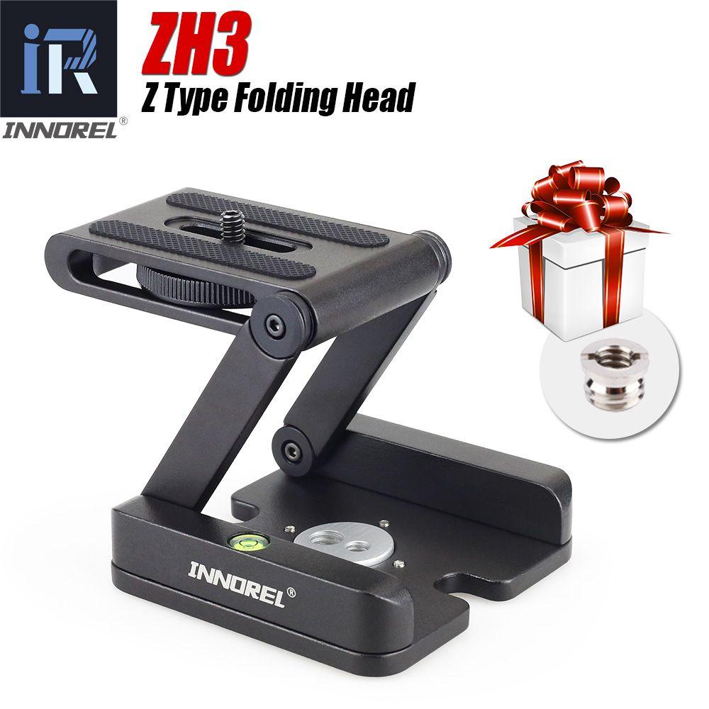 Tête de trépied ZH3 Z pliable tête inclinable de type Z pour Canon Nikon Sony DSLR caméra en alliage d'aluminium tête de trépied solution