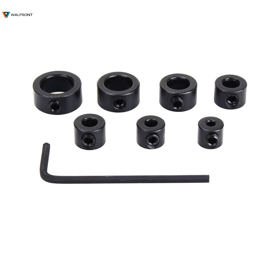Hot Sell 7Pcs/Lot 3-12mm Drill Bit Depth Stop Collar Ring Positioner Spacing Ring Locator Woodworking Drill Bit Hex Wrench