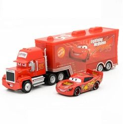 Disney Pixar Cars 2 Toys 2pcs Lightning McQueen Mack Truck The King 1:55 Diecast Metal Alloy Modle Figures Toys Gifts For Kids