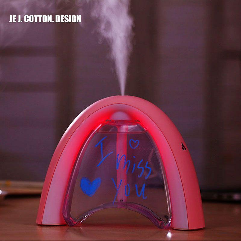 400 ml Arc-En-Air Humidificateur À Ultrasons avec LED Lampe Désodorisant Atomiseur USB Humidificador Huile Essentielle Diffuseur Mist Maker