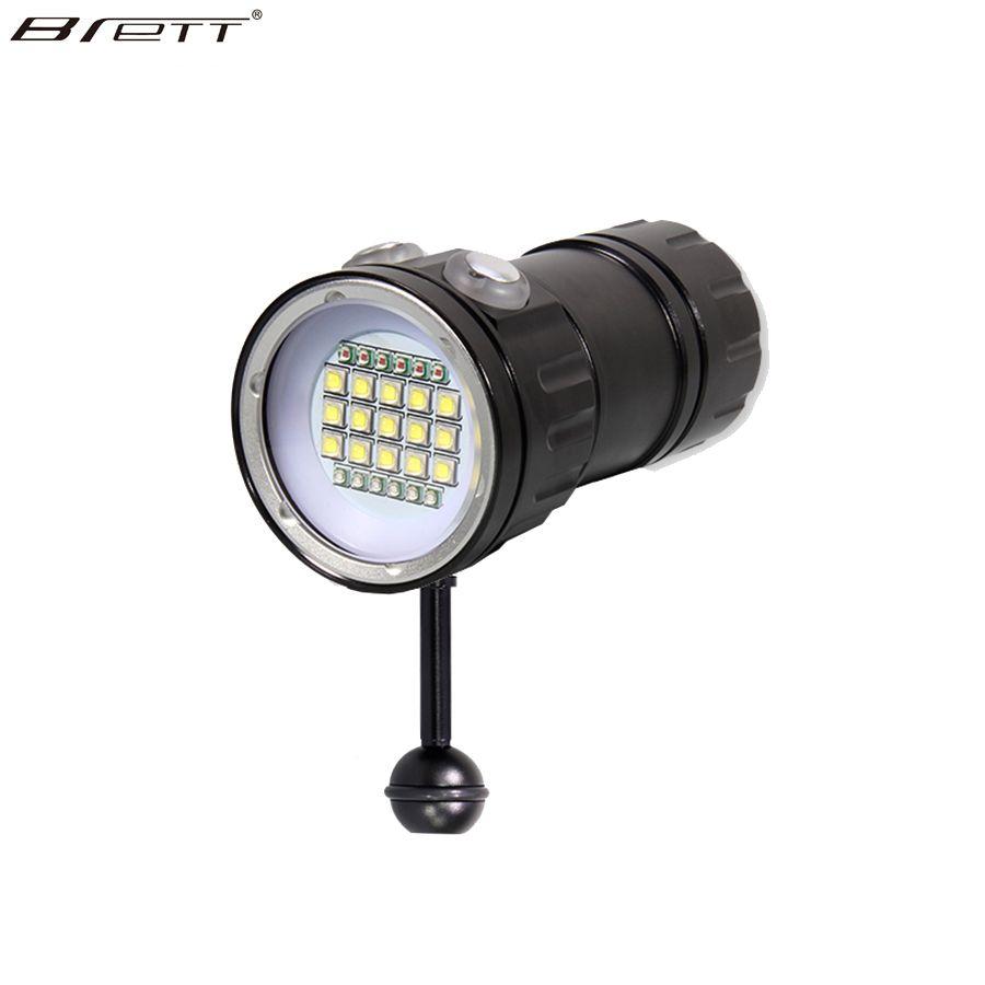 New LED Diving Flashlight <font><b>Underwater</b></font> 80M XHP70 / L2 Photography Video Camera Tactical Flashlight Blue+White LED Lanterna Torch