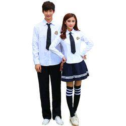 Korea Seragam Sekolah Kemeja Putih + Rok untuk Siswa Gadis Baju + Celana Pendek Korea Mahasiswa Anak Laki-laki Kostum Cosplay