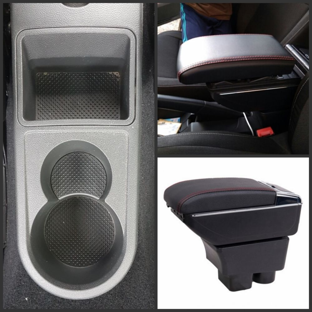 For Rapid armrest box central Store content Storage Rapid school armrests box with cup holder ashtray USB interface