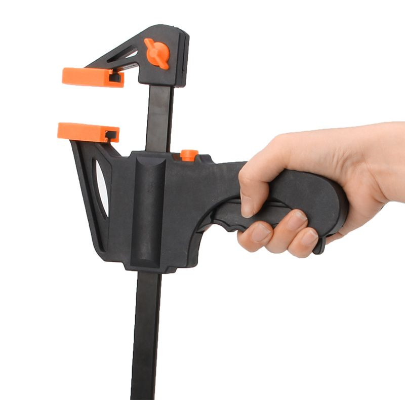 10 Inch Wood-Working Bar Clamp Quick Ratchet Release Speed Squeeze DIY Hand Tool -Y103
