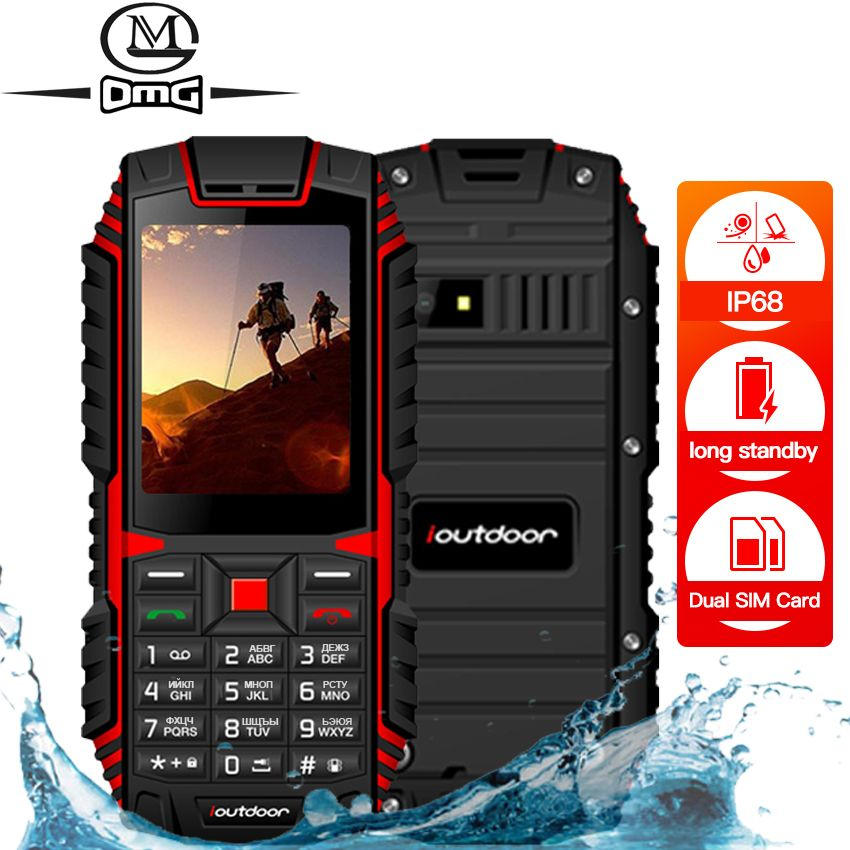 Ioutdoor T1 IP68 robuste handy Russische tastatur Wasserdicht stoßfest handy 2MP Kamera wireless FM entriegelte telefone