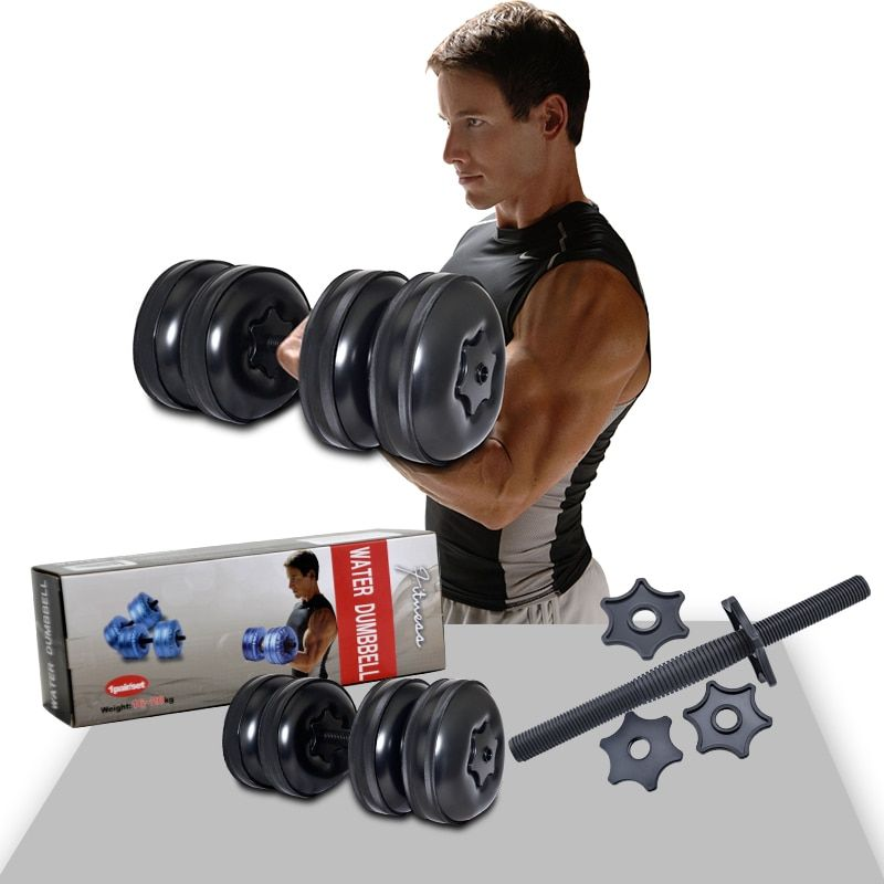 Free shipping high quality water dumbbell weight adjustable dumbbellfor fitness(a pair)