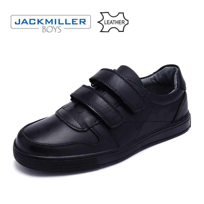 Jackmillerboys Schule Studenten Schuhe klassische echtem Leder Kinder Schuhe Für Jungen Kleid Schuhe Schwarz haken schleife flache größe 32- 37