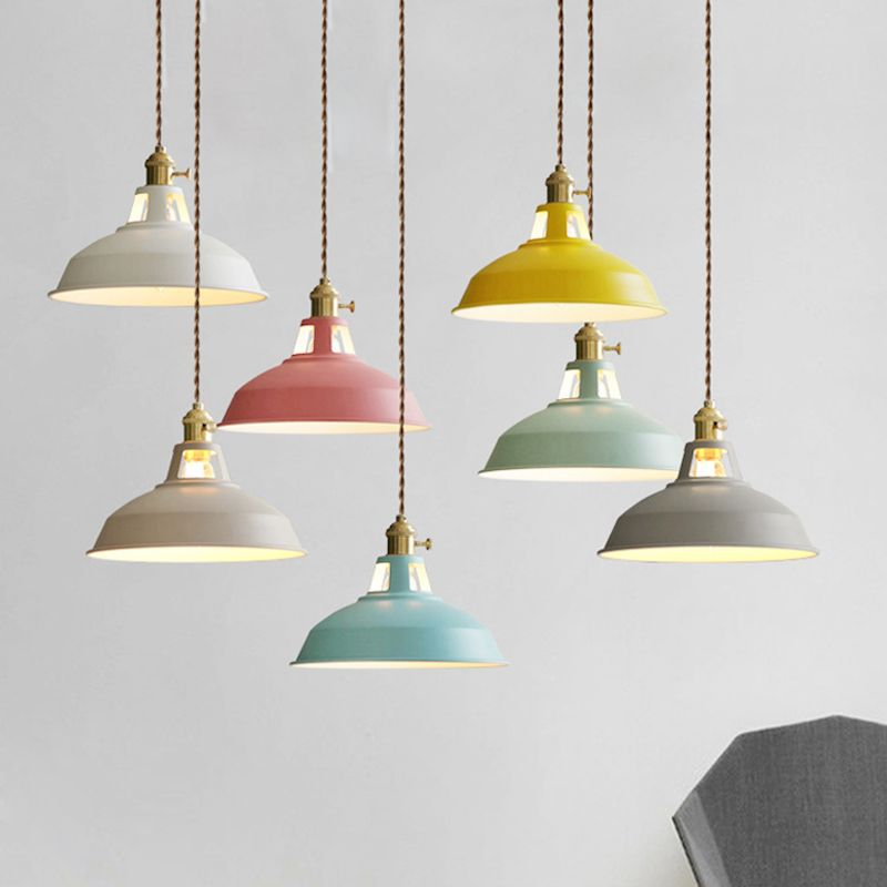 Modern LED Pendant Lights Multicolour Dining-room Restaurant Lamp Switch Pendant Lamps Twisted Wire Home Decration Lighting E27
