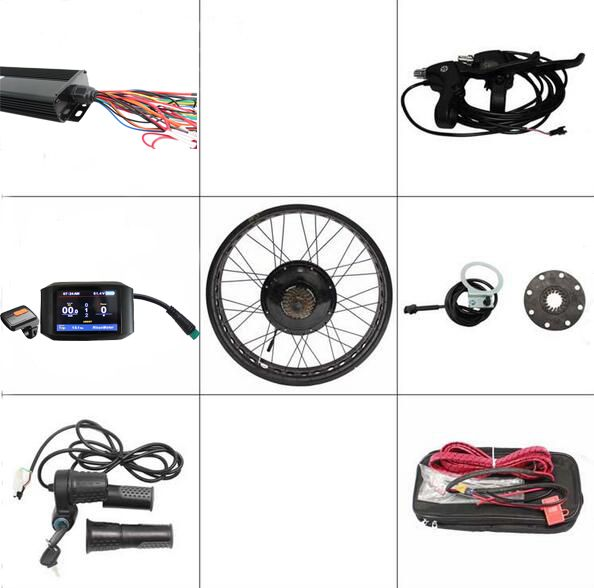 Free Shipping ConhisMotor 48v 1000w Fat Tire Chopper Rear Wheel Ebike Conversion Kit 30A Controller Electric Bicycle Color 750C