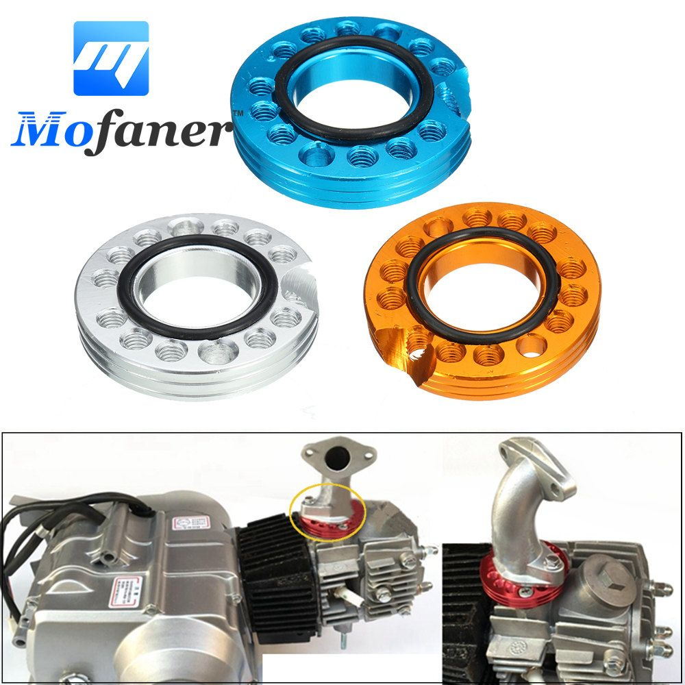 28mm Gold Silver Blue Pit Dirt Bike ATV Adaptor Carb Adjuster Carburetor Inlet Manifold Spinner Plate 90cc 110cc 125cc