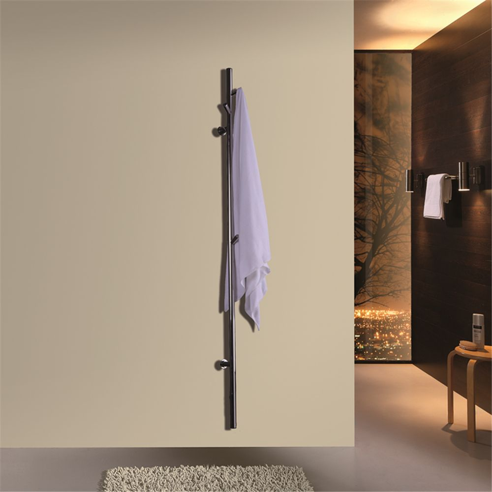 2018 New ARE single bar Wall Mounted stainless steel 304 Towel Rail Electric Heated Towel Dryer Towel Warmer HZ-935 with Flange