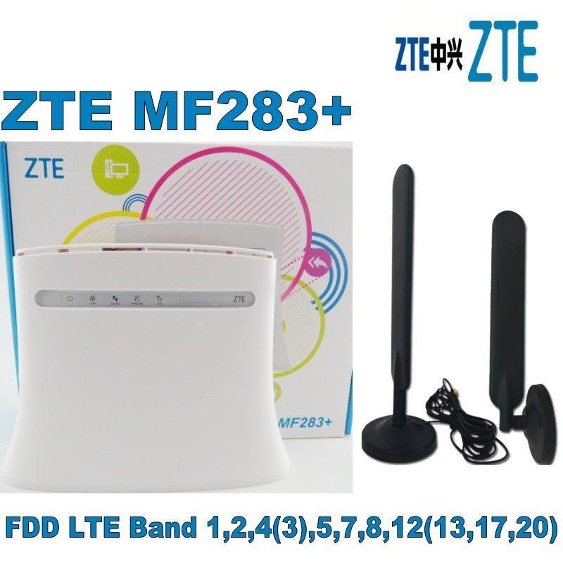 zte MF283+ cpe router 100M Ipv6 plus 2pcs 4g antenna