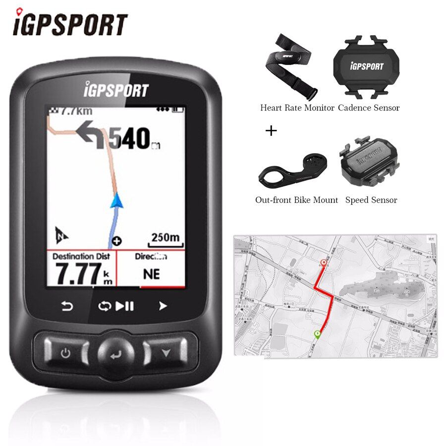 IGPSPORT IGS618 Bicycle Computer GPS ANT+ Bluetooth Wireless Backlight WaterproofIPX7 Cycling Speedometer Bike Digital Stopwatch
