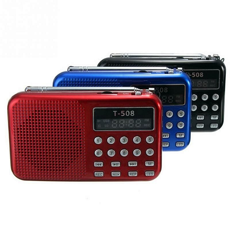 Offre spéciale radio fm Numérique Micro SD/TF USB Disque mp3 radio LCD Affichage Internet Radio avec haut-parleur RADT508