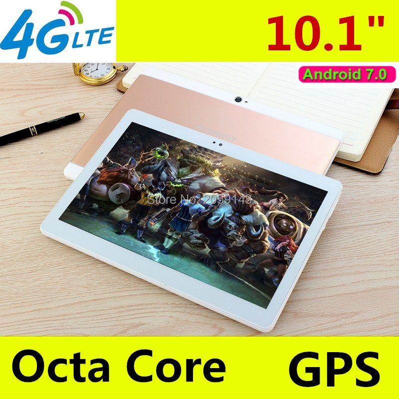 10,1 zoll tablet pc Octa-core 3G 4G LTE Tabletten Android 7.0 RAM 4 GB ROM 128 GB Dual SIM Bluetooth GPS Tabletten 10,1 zoll tablet pc