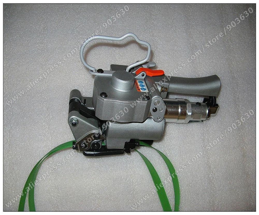 Freies Verschiffen! AQD-19 Pneumatisches Umreifungsgerät Mit Reibschweißen Für 13-19 MM PP/PET/Poly Strap Kantenanleimmaschine verpackung maschine