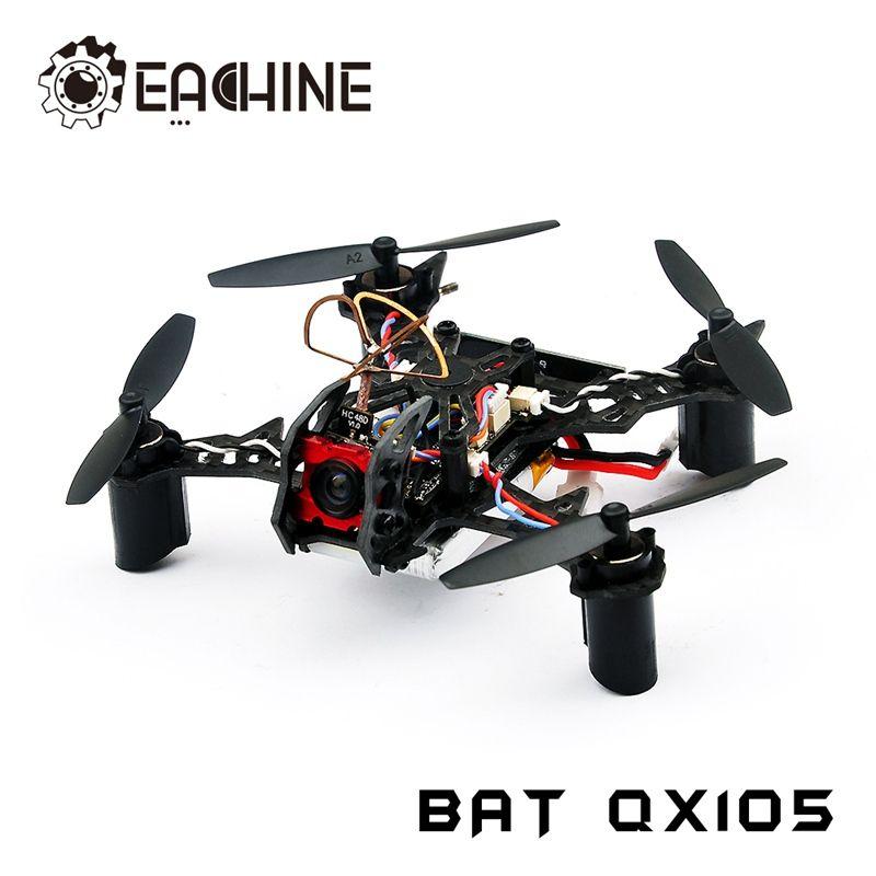 Original Eachine BAT QX105 w/ AIOF3_BRUSHED OSD 600TVL CAM 1020 Motor Buzzer Micro FPV RC Racer Racing Drone Quadcopter BNF
