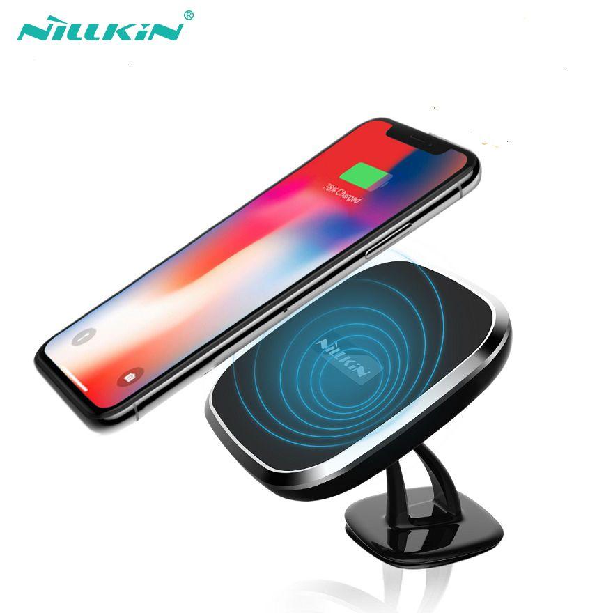 NILLKIN Qi Wireless Charger Pad 360 degree adjustable wireless charger for samsung s8 S9 s8 Plus for iPhone X 8 8 Plus car desk