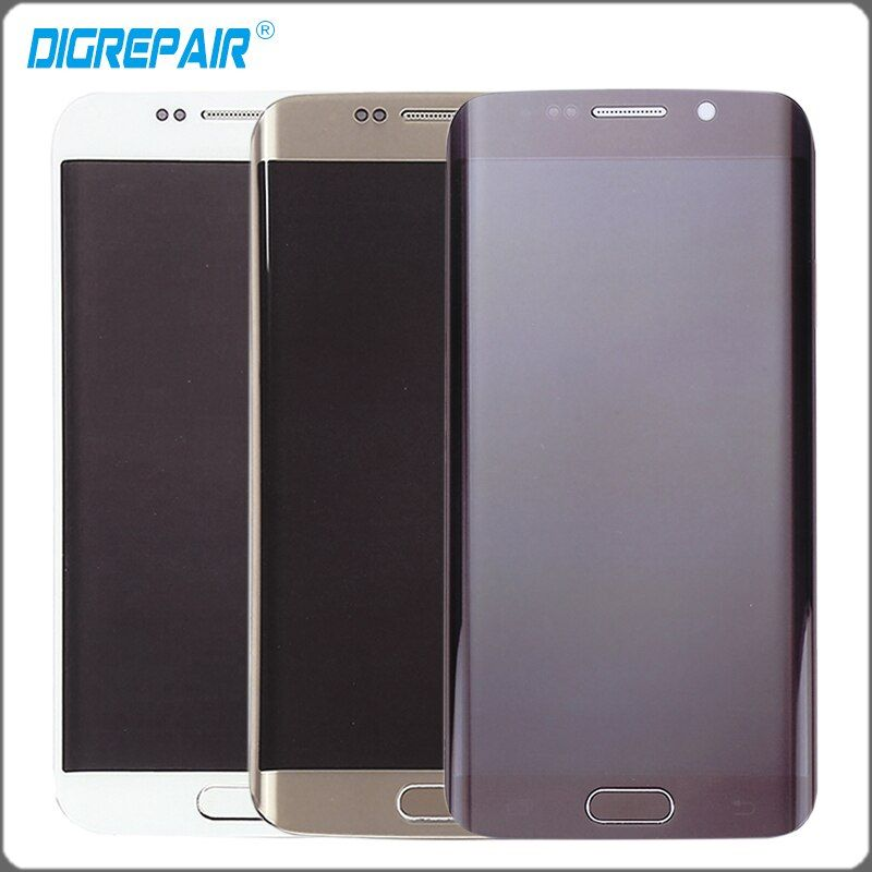 s6 edge display For Samsung Galaxy S6 edge G925I G925F LCD display Touch Screen Digitizer with Bezel frame Assembly Repair Parts