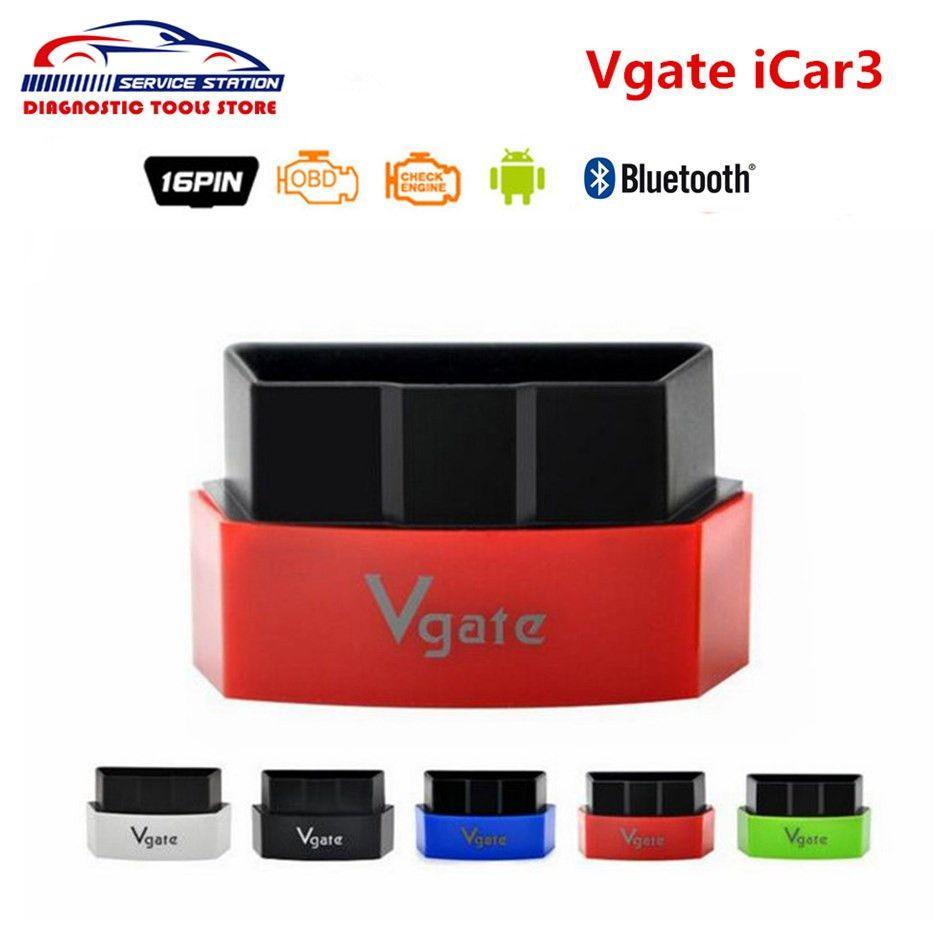 Лучшая цена Оригинал Vgate icar3 Bluetooth ELM327 для Android/IOS/PC Икар 3 Поддержка OBD2 протоколы Best Качество бесплатная доставка