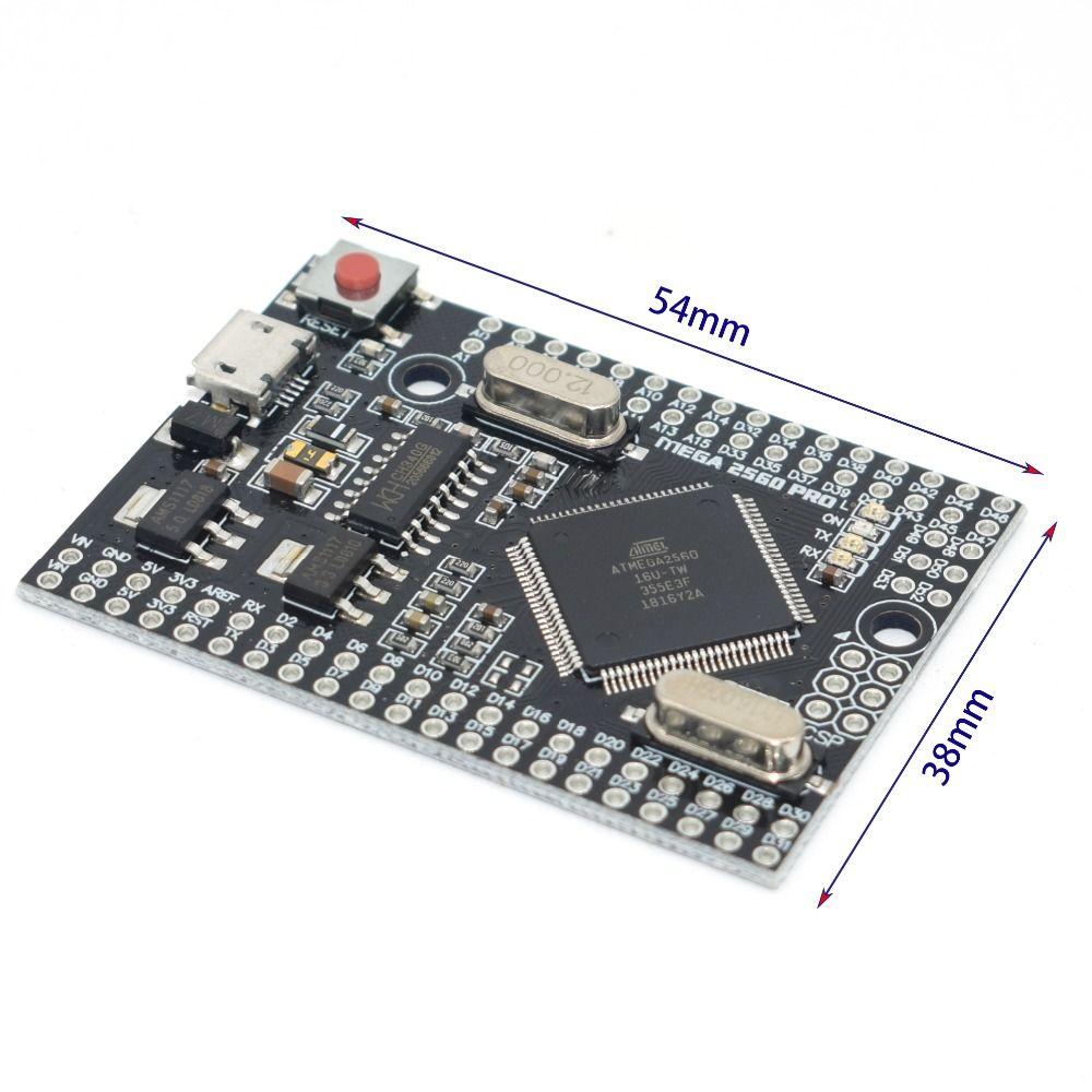 MEGA 2560 PRO Embed CH340G/ATMEGA2560-16AU puce avec tenailles mâles Compatible pour arduino Mega2560 bricolage
