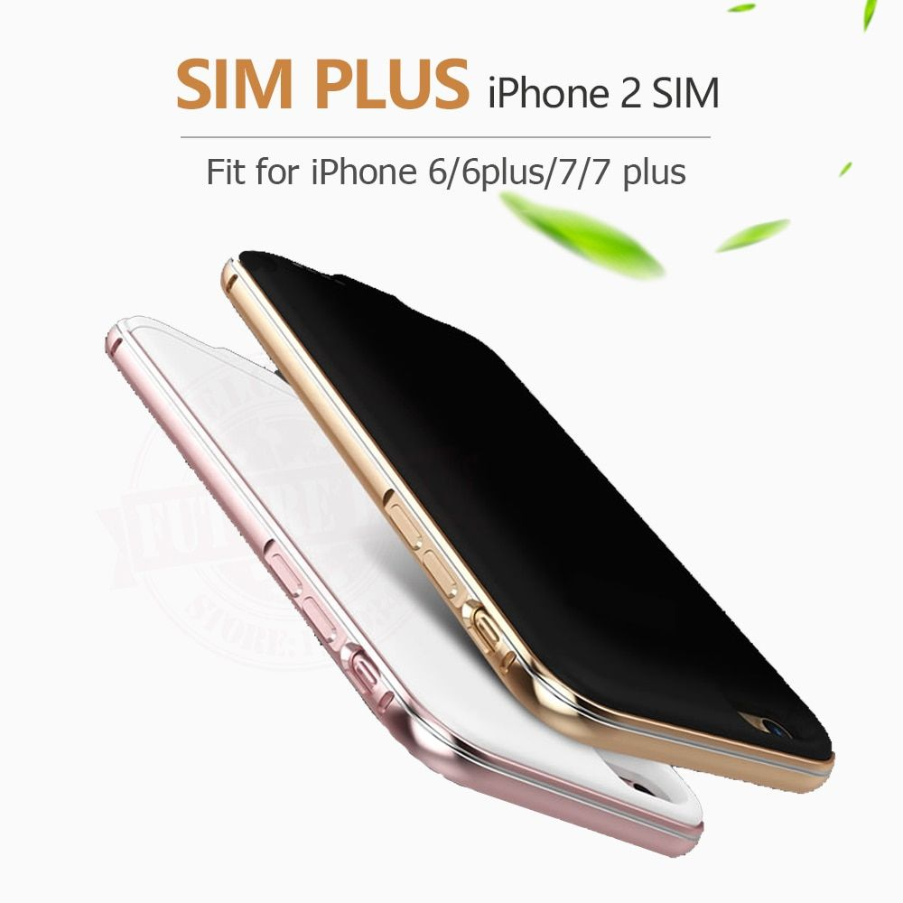 For iPhone 6/7/8 plus New Ultrathin Bluetooth Dual SIM Dual Standby Adaper Long Standby 7days with 1500/2300 mAh Power Bank