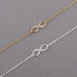 Shuangshuo 2017 Nouvelle Mode Infinity Bracelet pour les Femmes avec Cristal Pierres Bracelet Infinity Nombre 8 Chaîne Bracelets bileklik