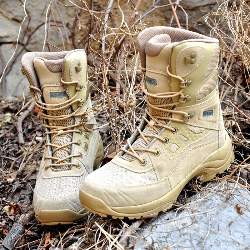Ultralight Breathable Men Tactical Combat Boots Spring Autumn Outdoor Training Hiking Hunting Desert Jungle Walking Ankle Shoes