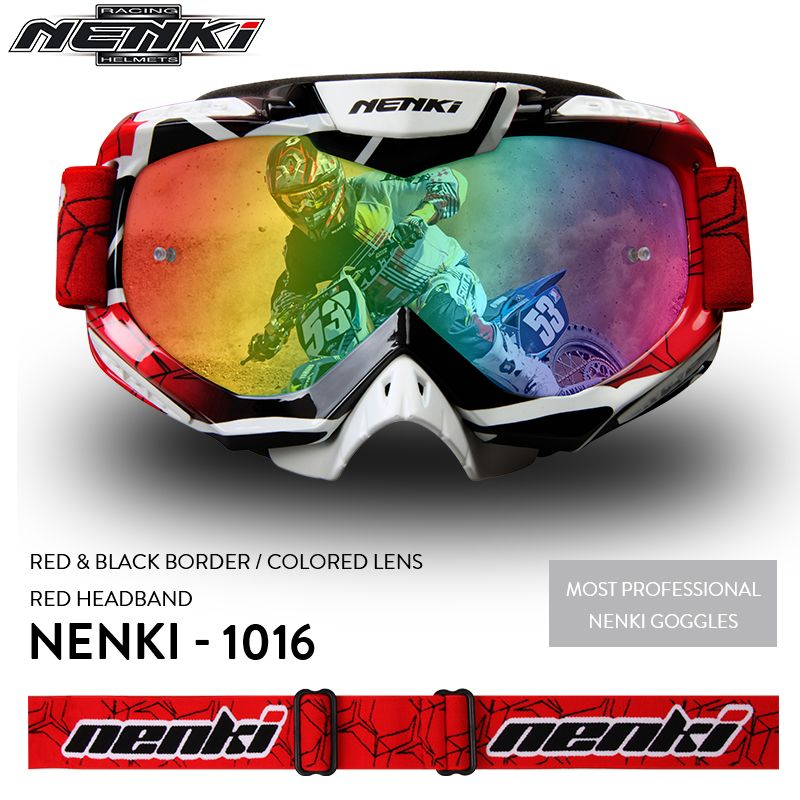 NENKI Motocross Glasses Moto Men Women Motorcycle Glasses Helmet Off-Road Motocross Goggles Dirt Bike ATV MX BMX DH MTB Eyewear