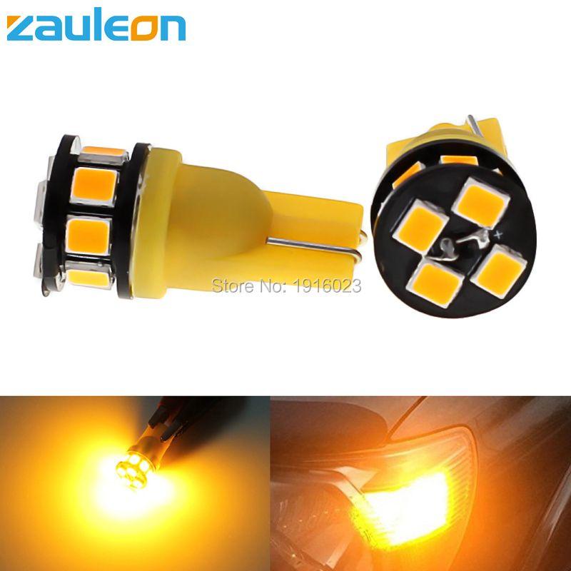 Zauleon 2 шт. T10 194 W5W светодиодные лампы 2835 12smd яркий Клин желтый сигнал поворота купола Географические карты двери Номерные знаки для мотоциклов...