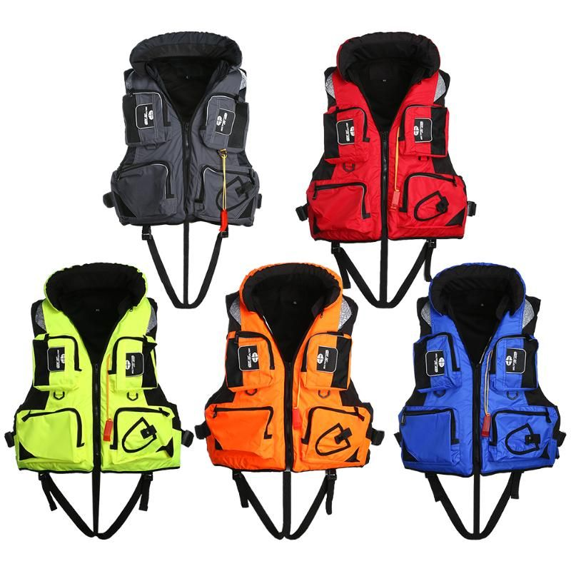 New Adult Polyester Swimming Life Jacket Professional Life Vest For Drifting Boating Survival Fishing Safety Jacket Water Sport