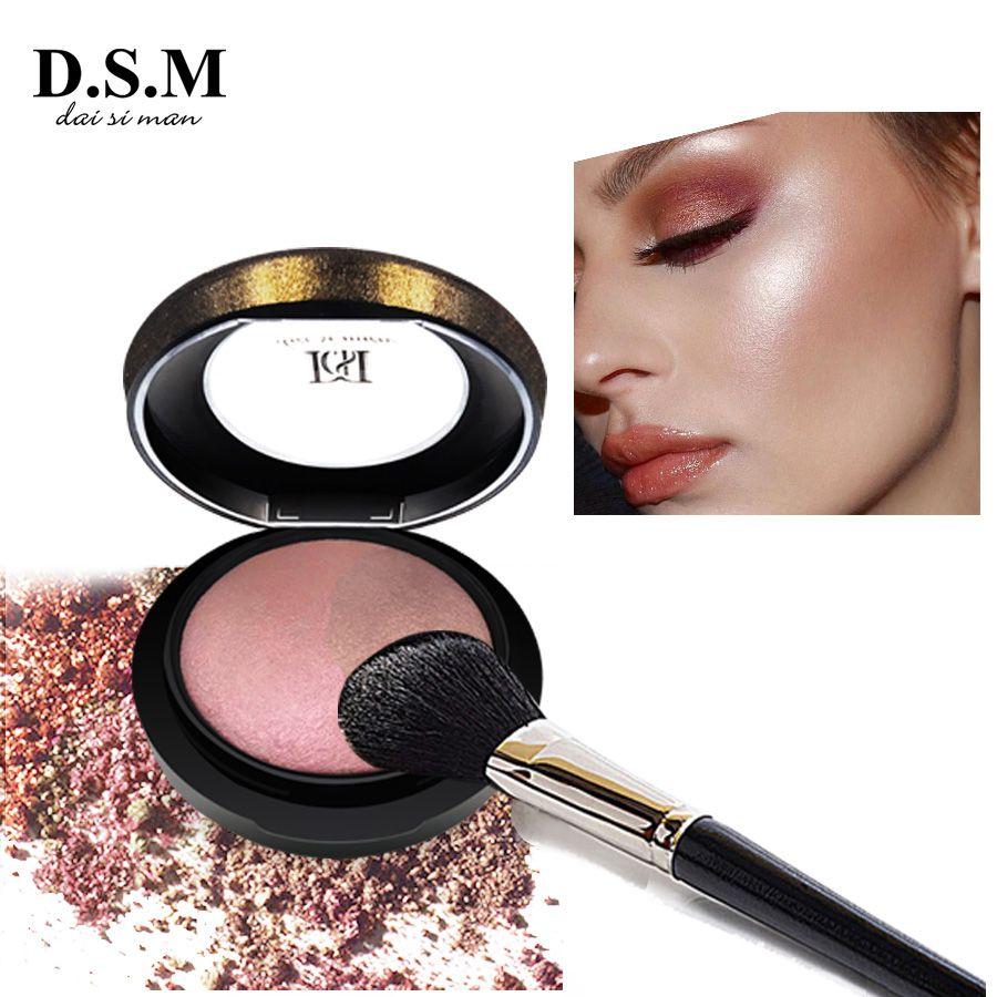 D.S.M Minéraliser Skinfinish Poudre Pressée Égayer Visage Imperméable Maquillage Bronzer Surligneur Cosmétiques Poudre Compacte Minérale