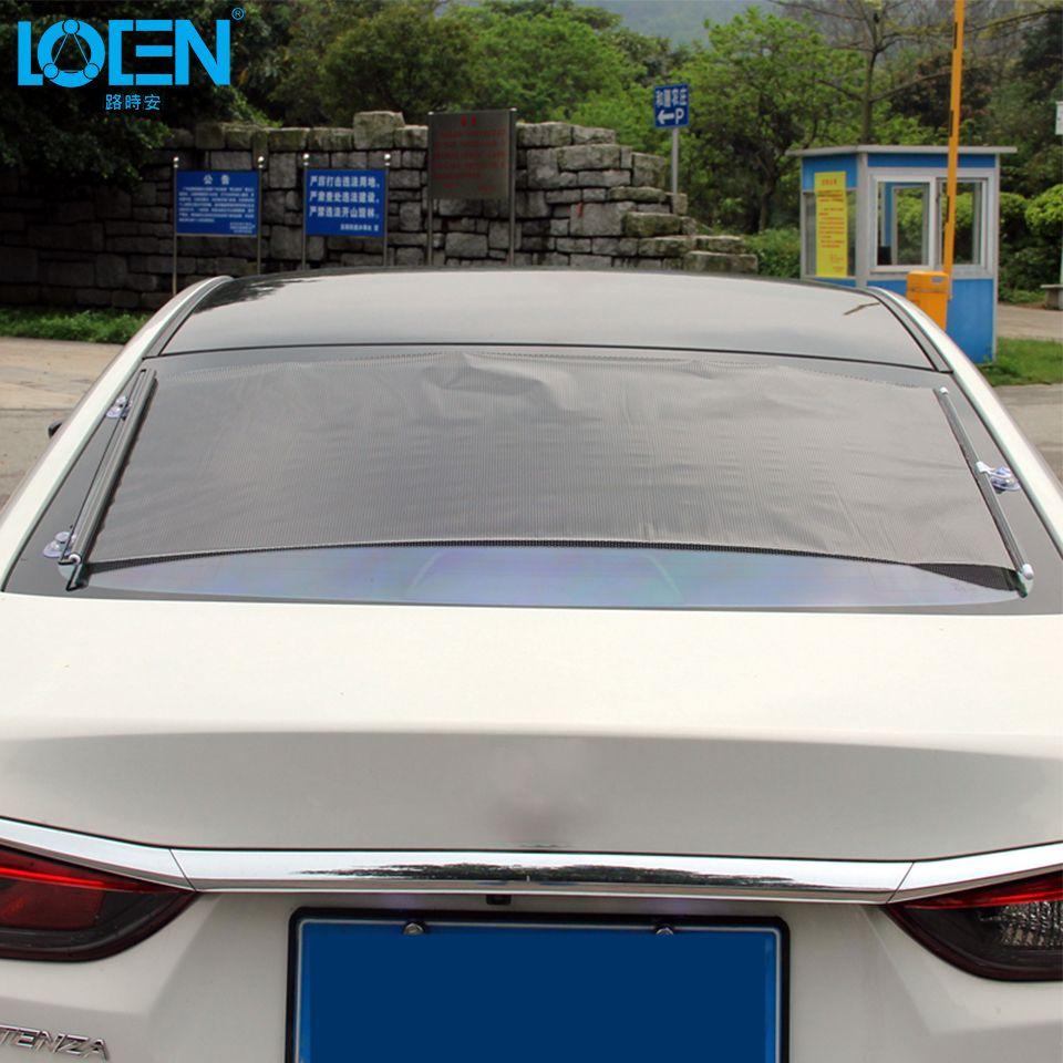 LOEN 1 Piece Portable Car Window Retractable Sunshade Sun Shade 5 Sizes for Windshield Auto Curtain Universal for Toyota Lexus