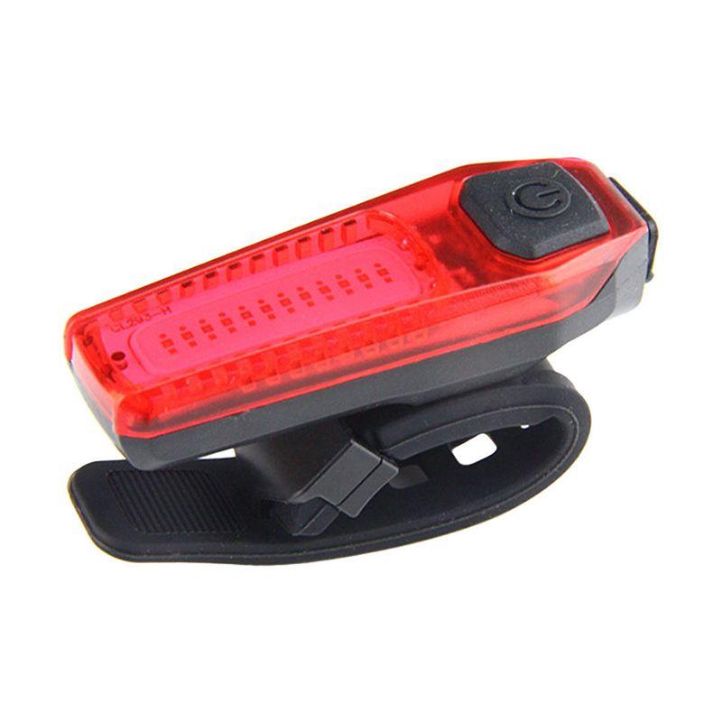 USB Aufladbare Radfahren Bike Schwanz COB LED Licht Fahrrad Rot Weiß