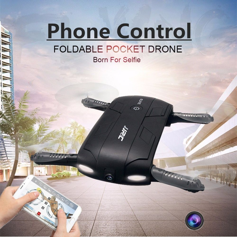 Hot Foldable Pocket Selfie Drone With Camera Wifi FPV RC Quadcopter Phone Control Helicopter Mini Dron JJRC H37 Elfie Copter