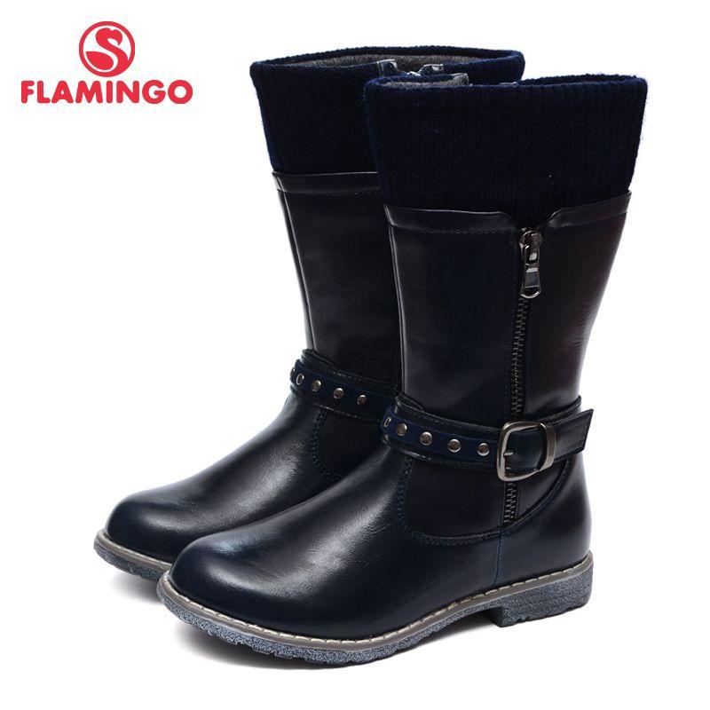 FLAMINGO 2016 neue kollektion herbst mode stiefel hohe qualität anti-rutsch kinder schuhe für mädchen W6XY212