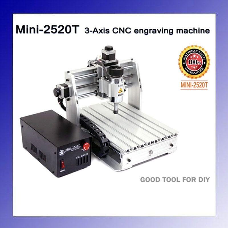 200 Вт 3 оси мини ЧПУ гравировка 2520 т