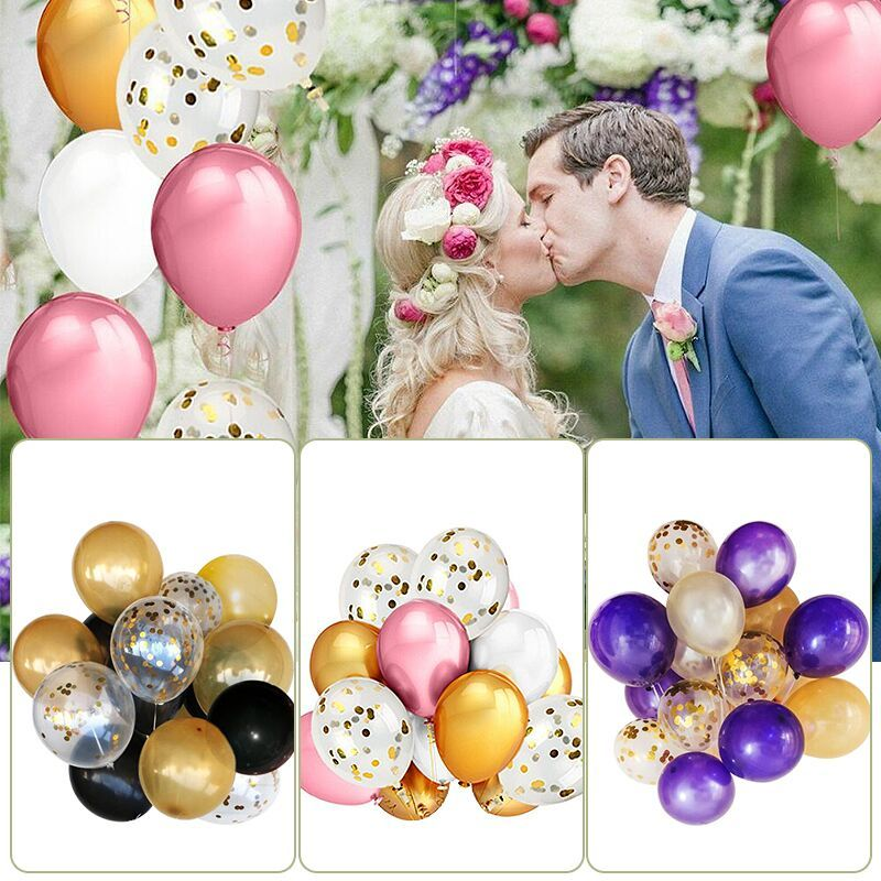 12 inches of confetti balloons 50pcs latex balloons gold pink purple holiday parties wedding room decorations balloons Wedding